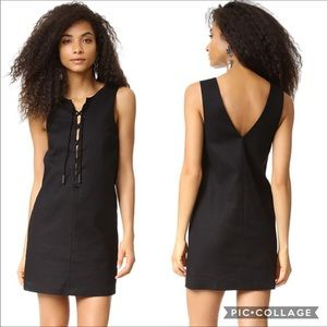 Kendall & Kylie Lace-up Black Tunic Dress
